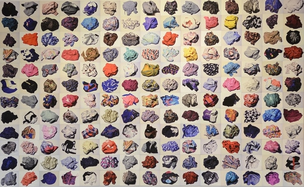 Trabajo de Lucy Argueta en el Museo de Arte y Diseño Contemporáneo.