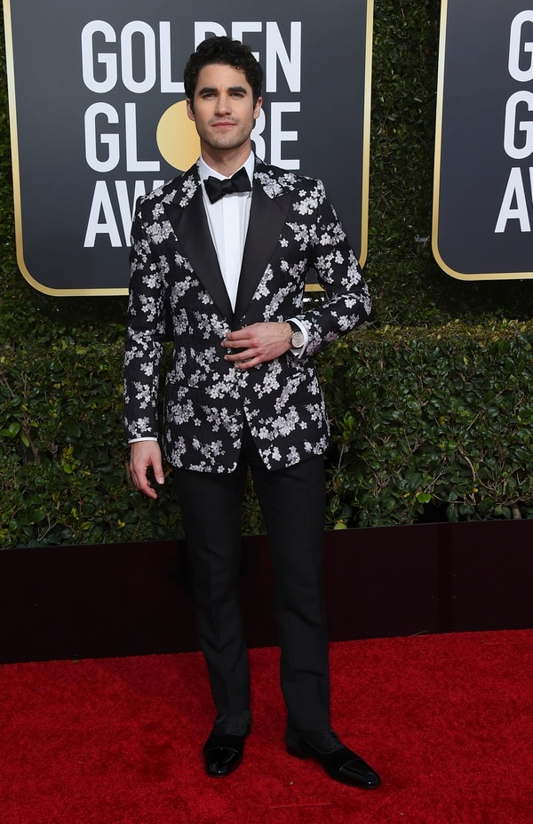 Darren Criss arrives at the 76th annual Golden Globe Awards at the Beverly Hilton Hotel on Sunday, Jan. 6, 2019, in Beverly Hills, Calif. (Photo by Jordan Strauss/Invision/AP)