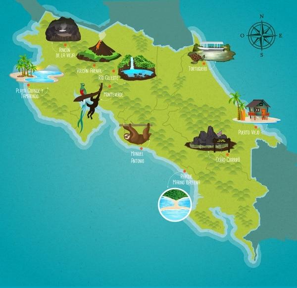 Estos son 10 de los destinos que debe visitar antes de salir de Costa Rica.