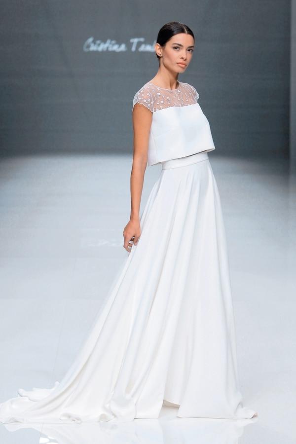 Diseño de Cristina Tamborero. Foto: Barcelona Bridal Fashion Week