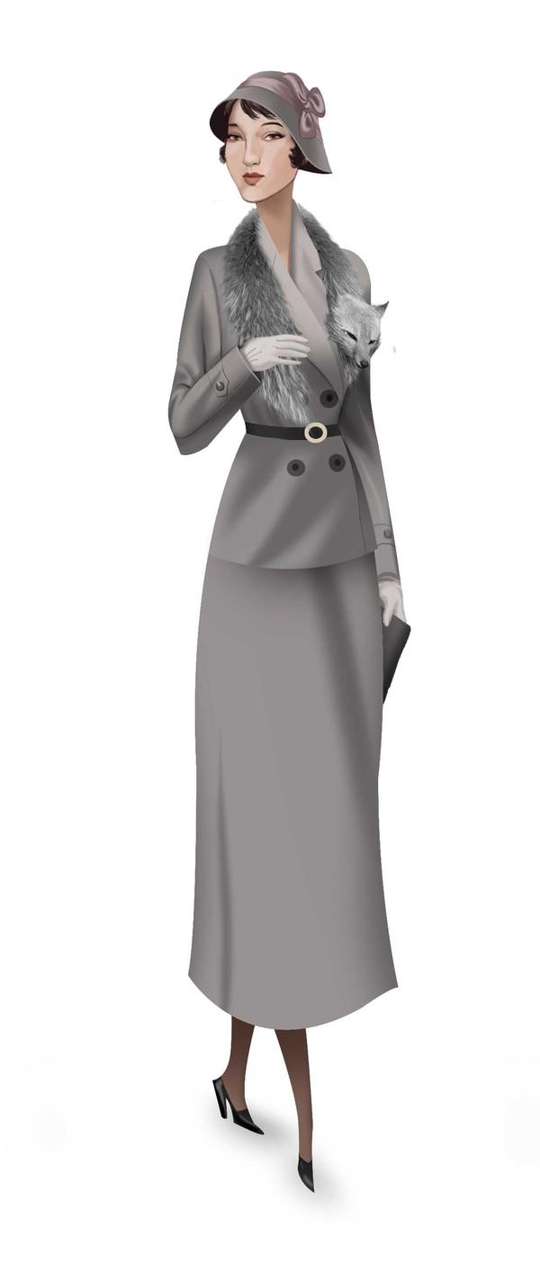 Las pieles finas adornaban la vestimenta femenina de la época.