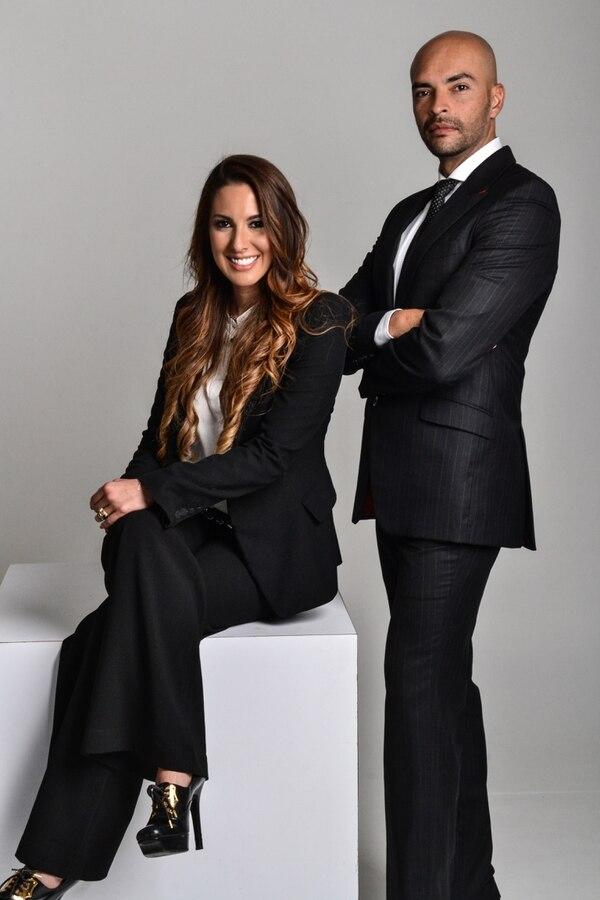 Michelle de Matheu y Fabrizzio Berrocal, diseñadores nacionales.