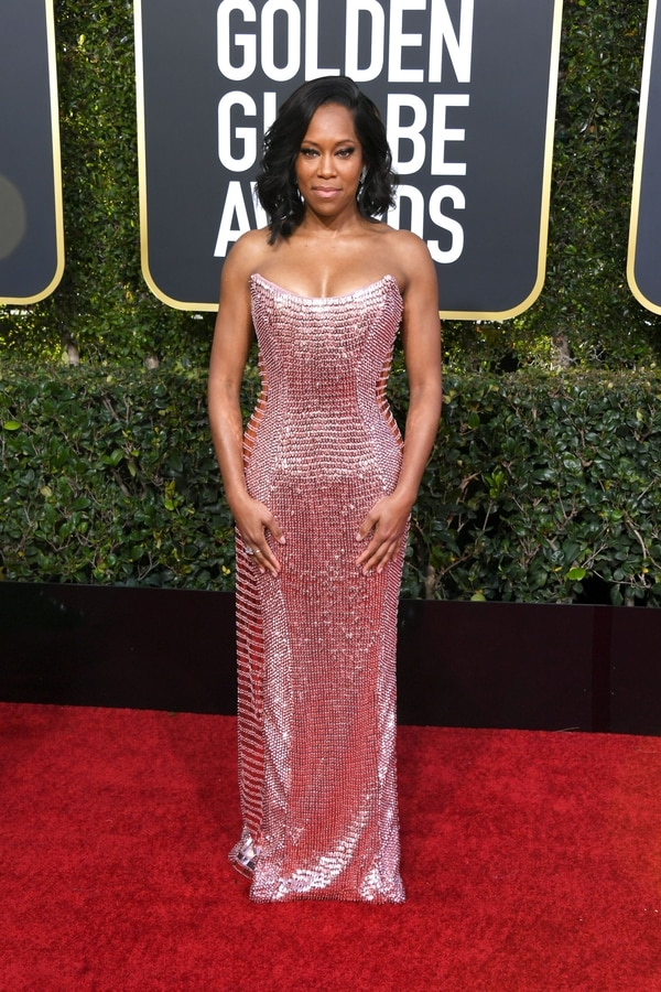 BEVERLY HILLS, CA - JANUARY 06: Regina King attends the 76th Annual Golden Globe Awards at The Beverly Hilton Hotel on January 6, 2019 in Beverly Hills, California. Jon Kopaloff/Getty Images/AFP == FOR NEWSPAPERS, INTERNET, TELCOS & TELEVISION USE ONLY==