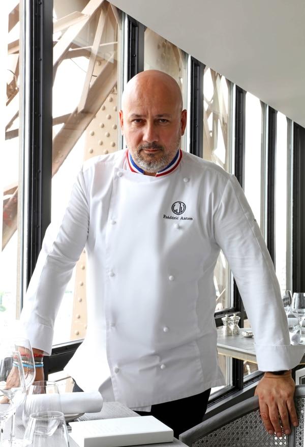 Frédéric Anton, chef del restaurante Jules Vernes en la Torre Eiffel de París