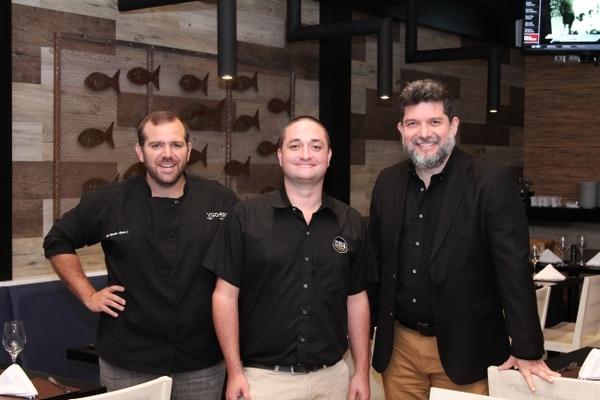 Socios iniciales Alberto Cubero, Arturo Papadopolo y Jaime Goldenberg. Foto: Randall Rodriguez P.
