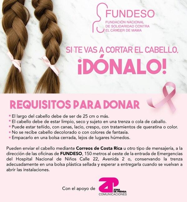 Donación de cabello. Fundeso