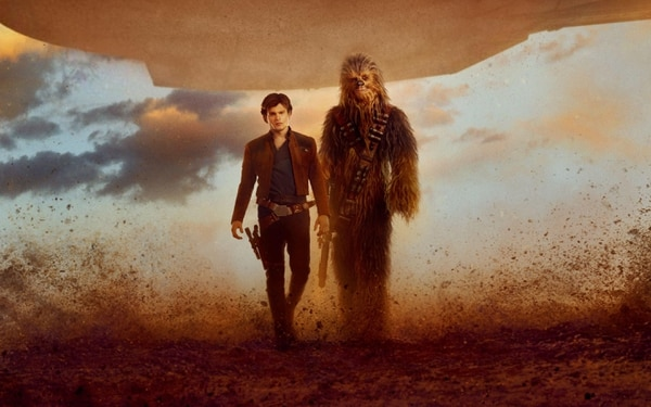 This image released by Lucasfilm shows Alden Ehrenreich as Han Solo in a scene from