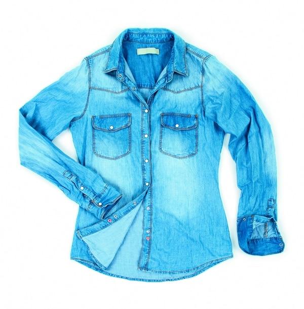 Camisa de mezclilla, moda