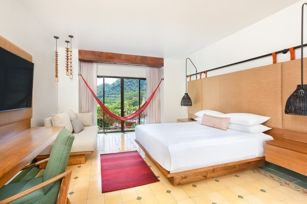 Rainforest Room with Double Beds: spacious room featuring views of the rainforest and gardens.