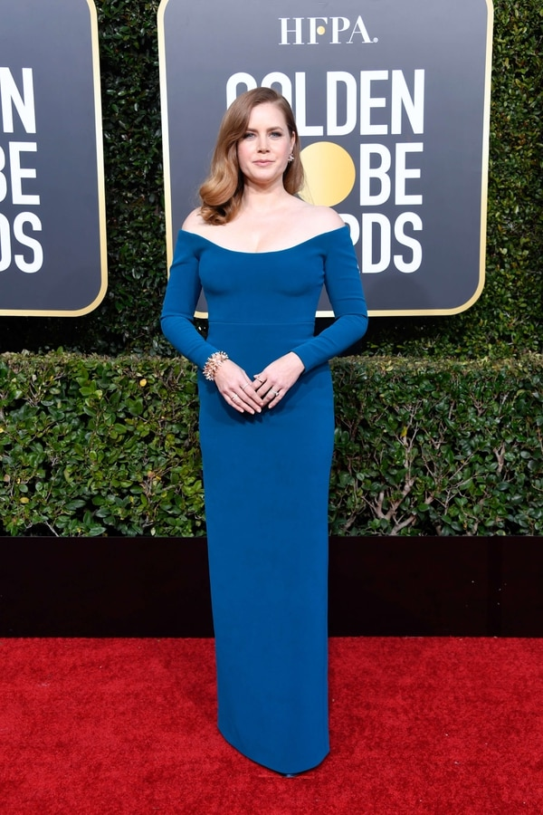 BEVERLY HILLS, CA - JANUARY 06: Amy Adams attends the 76th Annual Golden Globe Awards at The Beverly Hilton Hotel on January 6, 2019 in Beverly Hills, California. Frazer Harrison/Getty Images/AFP == FOR NEWSPAPERS, INTERNET, TELCOS & TELEVISION USE ONLY==