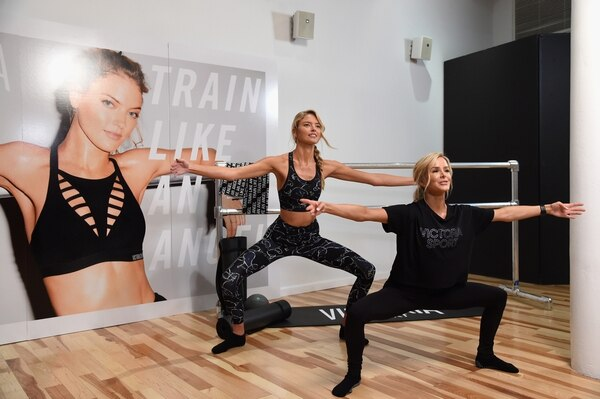 NEW YORK, NY - SEPTEMBER 18: Train Like An Angel with Martha Hunt and trainer Andrea Rogers to kick off the 2018 Victorias Secret Fashion Show Season on September 18, 2018 in New York City. (Photo by Dimitrios Kambouris/Getty Images for Victoria's Secret)